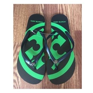 NEW! Tory Burch Logo Flip Flops Sandals